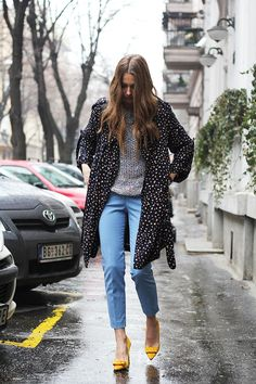 Printed flowing trenchcoat | Fashion Style
