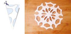 Jak zrobić śnieżynki z papieru – szablony (DIY)   Mamotoja.pl Xmas, Diy, Wall Mount, Bricolage, Wall Installation, Christmas, Navidad, Do It Yourself, Noel