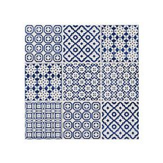 Blue patchwork tiles from Topps Tiles   Patchwork tiles micro trend 2014   Trends   PHOTO GALLERY   Housetohome.co.uk
