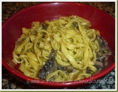 Le Ricette della Nonna: Tagliolini freschi all'uovo ai funghi Homemade Pasta, Macaroni And Cheese, Spaghetti, Ethnic Recipes, Mac And Cheese, Noodle