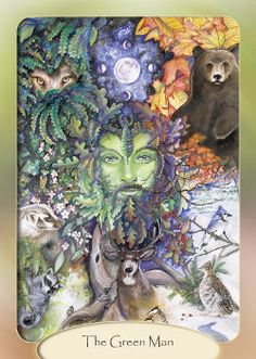 greenman green man   HERN THE HUNTER  wall plaque pagan wicca indoor version