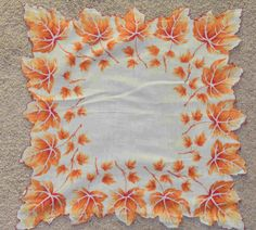 orange hankies | Vintage Hankies and Handkerchiefs Vintage Handkerchiefs, Aprons Vintage, Retro Vintage, Sewing Projects, Projects To Try, Sewing Notions, Junk Journal, Umbrellas, Old And New