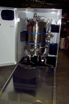 We made a protective case so that a company could ship a massive bioreactor to and from trade shows.