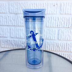 Nautical Water Bottle by KrystlesCraftCloset on Etsy