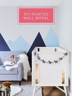 DIY Playroom Ideas and Furniture - DIY Painted Wall Mural - Easy Play Room Storage, Furniture Ideas for Kids, Playtime Rugs and Activity Mats, Shelving, Toy Boxes and Wall Art - Cute DIY Room Decor for Boys and Girls - Fun Crafts with Step by Step Tutorials and Instructions http://diyjoy.com/diy-playroom-ideas
