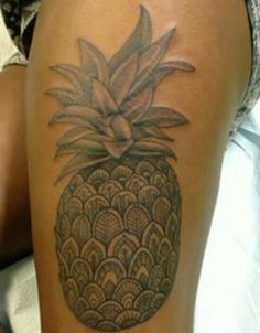 Polynesian pineapple tattoo