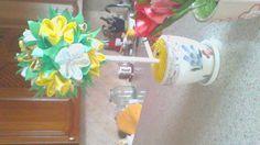 топиарий канзаши - весеннее солнце