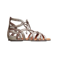 Women's Gentle Souls Break My Heart Gladiator Sandal - Dark Brown... ($160) ❤ liked on Polyvore featuring shoes, sandals, casual, lace up shoes, lace-up sandals, laced sandals, suede shoes, metallic sandals and suede gladiator sandals