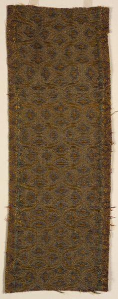 Textile fragment Unknown artist, Italian Textile fragment, 16th century Silk; linen 06.122