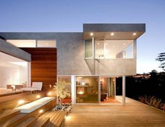 Modern Concrete, Wood and Glass Home in LA: Redesdale Residence