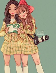 Character Design~ By Itslopez Best Friend Drawings, Bff Drawings, Cartoon Kunst, Cartoon Art, Friend Cartoon, Itslopez, Girly M, Cartoon Sketches, Best Friends Forever