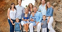 Image result for summer family photo color schemes large group
