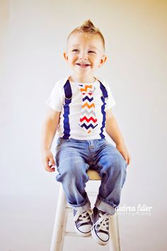 Baby Boy tie onesie with Suspenders Fall by shopantsypants