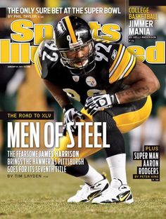 January 31 2011 Sports Illustrated CoverFootball AFC Championship Pittsburgh Steelers James Harrison lining up on defense before snap vs New York. Here We Go Steelers, Pittsburgh Steelers Football, Pittsburgh Sports, Steelers Stuff, Football Team, Pitsburgh Steelers, Football Stuff, Football Baby, James Harrison