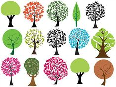 Trees Vectors, Brushes, PNG, Pictures and Shapes Free Vector Clipart, Picture Tree, Photoshop Images, Bullet Journal Art, Autumn Crafts, Doodle Art, Art Images, Cute Art, Poster Prints