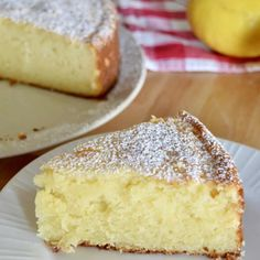 This recipe for Italian Lemon Ricotta Cake is the best out there! Light, fluffy, and full of flavor, it is the perfect Italian dessert. Easy and simple recipe made with ricotta cheese and lemon. Lemon Desserts, Lemon Recipes, Just Desserts, Sweet Recipes, Baking Recipes, Delicious Desserts, Cake Recipes, Easy Italian Desserts, Ricotta Cheese Desserts