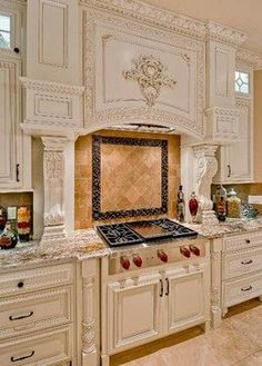 10 Best French-Country Kitchen Design Ideas To Inspire You - GODIYGO.COM French country design is known by its classic and luxurious design. It is commonly loved by the rich people who … Rustic Kitchen Cabinets, Painting Kitchen Cabinets, Kitchen Decor, Kitchen Ideas, Kitchen Layout, Kitchen Backsplash, Kitchen Countertops, Kitchen Hacks, Kitchen Appliances