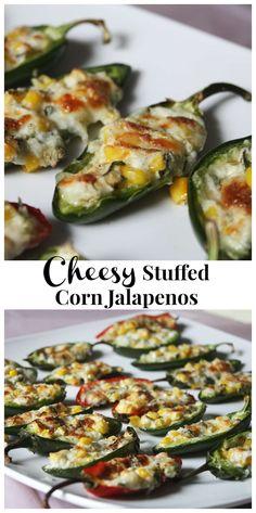 Cheesy Stuffed Corn Jalapenos || Aggie's Kitchen