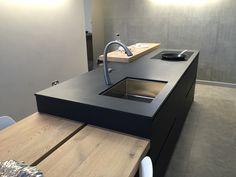 Beautiful #Quartzforms Cloudy Black and More Opacco on display at NGI Stamford, fabricator Midland stone