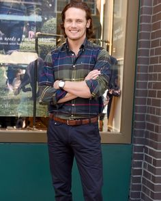 Sam Heughan in NY for Barbour #samheughan #barbour #outlander #nyc #