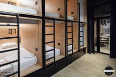 inBOX Capsule Hotel: The Five-Star Hostel with Modern Interior and Unique Personal Space Scandinavian Interior Design, Modern Interior, Pod Bed, Dormitory Room, Bright Apartment, Capsule Hotel, Bunk Bed Designs, House Design, Home