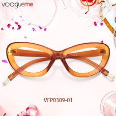 3e10e4d694e3 Lucinda Cat Eye Orange Eyeglasses Made of durable plastic material