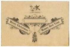Antique Ephemera - Beautiful Christmas Typography - The Graphics Fairy