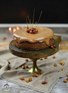 Nougat CHeesecake, Nougat Kipferl & karamellisierte Haselnüsse | Das Knusperstübchen