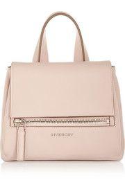 Mini Pandora Pure bag in blush textured-leather