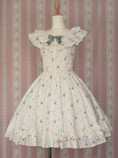 Lolibrary | Victorian Maiden - OP - Frill Cherry Dress