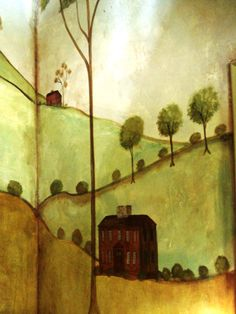 English Home ~ by Susan Dwyer.  Love this painted mural.