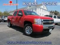 Checkout our Pre-owned vehicle of the day!  CERTIFIED 2011 Chevrolet Silverado 1500 Crew Cab Short Box 4-Wheel Drive LT  Miles: 44, 199 Exterior: Red Interior: Black  Contact us today for a test drive! www.palmettochevy.com