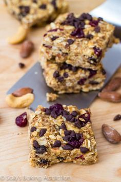No-Bake Peanut Butter Trail Mix Bars by Sallys Baking Addiction