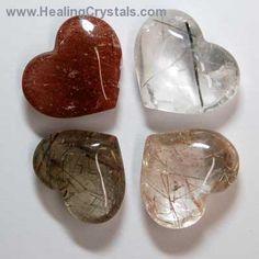 Hearts - Rutilated Quartz Heart- Rutilated Quartz - Healing Crystals