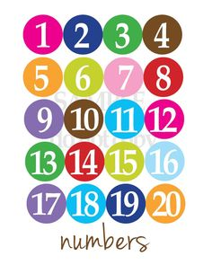 Numbers poster for kids by yellowdeskdesigns graphic design/quotes плакат, Student Numbers, Numbers For Kids, Printable Numbers, Teacher Tools, Kids Prints, Art Wall Kids, Preschool Activities, Kids Learning, Math