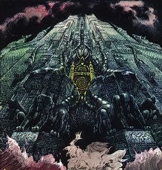 Philippe Druillet. There are some different styles in this piece and I think the artist integrates them well together. The details alone in the building are amazing and I enjoy the perspective.