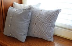Memory pillows using dad's shirts