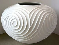 Ian Garrett. beautiful vessel covered in curly texture. pottery ceramics clay