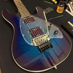Ernie Ball Music Man Steve Morse Y2D in Blue