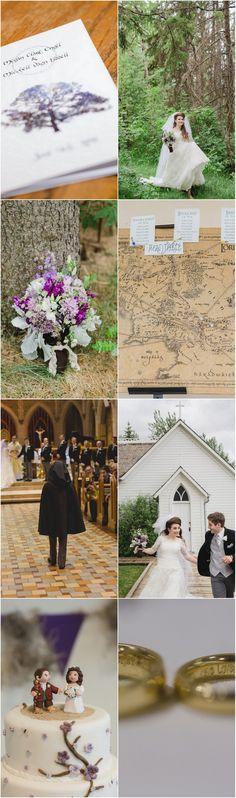 Creative JRR Tolkien Wedding!  Their Romantic JRR Tolkien Wedding truly brought forth The Ring!