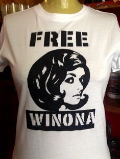1b04c306 The Original Free Winona Silk Screened White T-Shirt womens and mens sizes