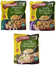 Tasty Bite Heat & Eat Organic Rice Side Dish 3 Flavor Var...