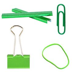 JAM Paper® Green Desk Supply Assortment Pack - Rubber Bands, Colored Staples, Binder Clips & Paper Clips - 1 Pack of Each (4 Packs Total) JAM Paper http://www.amazon.com/dp/B00V91N15K/ref=cm_sw_r_pi_dp_Exdqvb0B0BCJ6