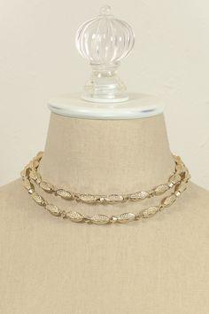 60's__Coro__Double Strand Necklace