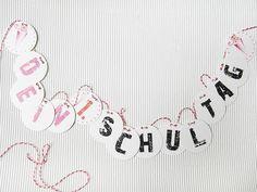 Girlande Schulanfang, erster Schultag, ABC Schütze von DesignArbyte auf DaWanda.com
