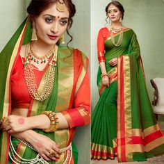 7d9de10f9f921 Shop Elegant dark green colored khadi silk premium saree from Indias best online  shopping site offering latest collection at cheap prices with cash on ...