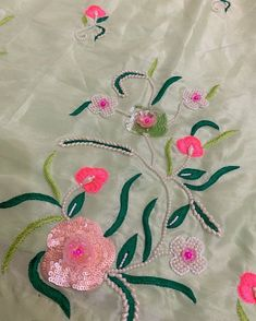 Hand made suits 🌸🌸 To order or any queries plz call Or Whtsapp Embroidery Suits Punjabi, Zardosi Embroidery, Embroidery On Kurtis, Hand Embroidery Dress, Couture Embroidery, Embroidery Works, Embroidery Fashion, Beaded Embroidery, Hand Embroidery Design Patterns