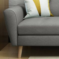 Shop Noble House Loomis Fabric Sofa Gray at Best Buy. Find low everyday prices and buy online for delivery or in-store pick-up. Design Living Room, Living Room Sets, Mid Century Sofa, Mid Century Design, Sofa Seats, Seat Cushions, Beige Sofa, Furniture Assembly, Design Furniture