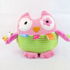 Mary Meyer Taggies Oodless Owl 8-Inch Plush Baby Tactile Visual Stimulation Toy #Taggies