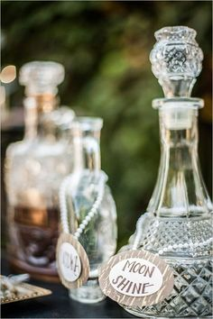 Gallery: label vintage bottles wedding decor - Deer Pearl Flowers